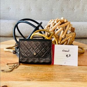 Authentic Mini Chanel Flap Quilted Crossbody Bag